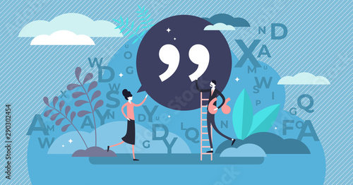 Fotomural Quote vector illustration