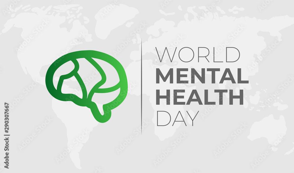 Fototapeta World Mental Health Day Background