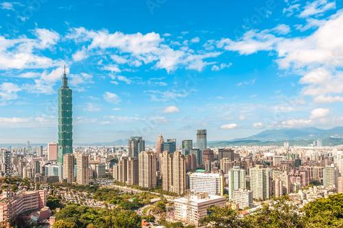 Photo Panoramic view of Taipei City, taiwan