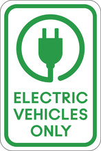 Electric Vehicle Parking Sign | Electric Car Charging Station