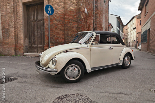 classic German car Volkswagen Type 1 (Beetle) Cabriolet Canvas Print