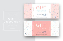 Abstract Gift Voucher Card Tem...