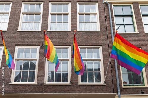 Rainbow Pride Flags Canvas Print
