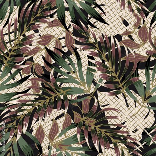 tropikalny-wzor-z-lisci-i-roslin-nowoczesny-projekt-abstrakcyjny-dla-tkanin-papieru-wystroju-wnetrz-i-innych-uzytkownikow-tropikalny-botaniczny-dzungla-liscia-bezszwowy-wektorowy-kwiecisty-deseniowy-tlo