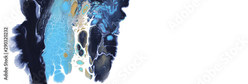 Marble texture. Acrylic colors blots. Abstract background.