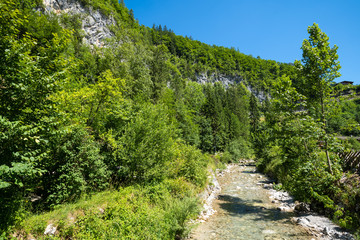 Fototapeta na wymiar Weissbach - Lofer   Seisenbergklamm   Austria