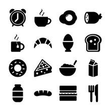 Breakfast Solid Icons