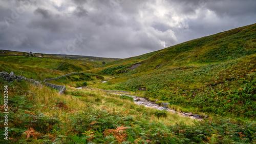 Photo Source of River West Allen, as it begins its journey on Coalcleugh Moor in the N