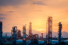 Gas Refinery Plant On Sunset S...