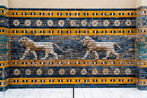 Lions from the Processional Way, Ishtar Gate, Pergamon Museum, Museum Island, Be Canvas Print