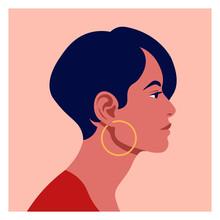 Latin American Head In Profile...