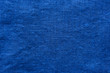 Blue linen cloth texture. Natural fabric material background