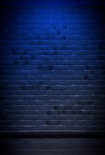 Brick Wall, Background, Neon L...