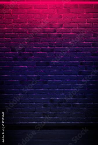 Recess Fitting Brick wall Brick wall, background, neon light