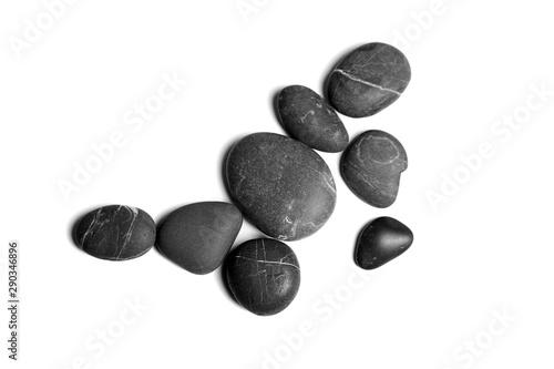 Pinturas sobre lienzo  Scattered sea pebbles