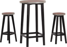 Set Of Stools And Table Over Isolated White Background