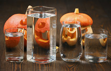 Pumkin And Candles Distorted T...