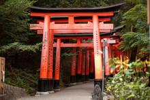 Fushimi Inari Shrine Taisha Gates (senbon Torii). Fushimi Inari Shrine Is An Important Shinto Shrine And Famous Sight In Southern Kyoto