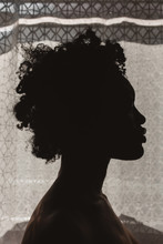 Silhouette Of A Young Black Woman