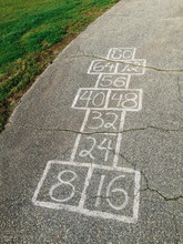Hopscotch At Schoolyard