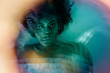 Kaleidoscope Images Of A Young Black Woman