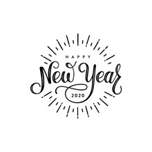 Happy New Year 2020 Lettering ...