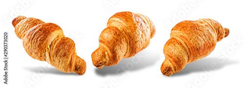 Obraz na plátně  Croissant on a white isolated background