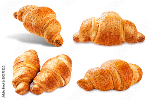 Fotografie, Obraz  Croissant on a white isolated background
