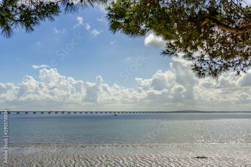 Vasco da Gama bridge - the longest bridge in Europe Wallpaper Mural