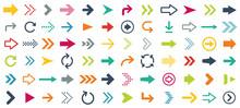 Arrow Different Icons Set. Vec...