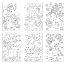 Set Of Black And White Pages F...