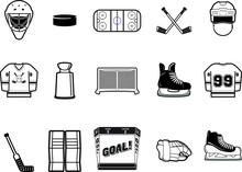 Black And White Hockey Vector ...
