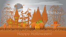Happy Halloween Background Wit...