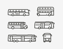 Bus Icon Set. Transport Symbol...