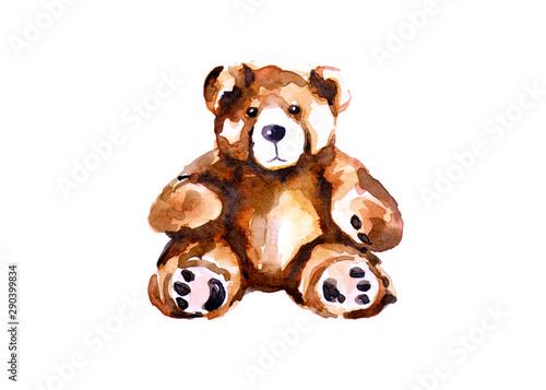 Childhood toy, teddy bear. Canvas Print