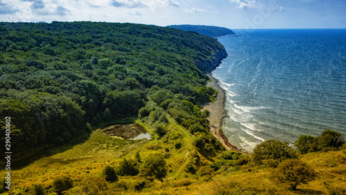 Poster South America Country Beautiful Baltic coast of the island.Hammershus - Bornholm