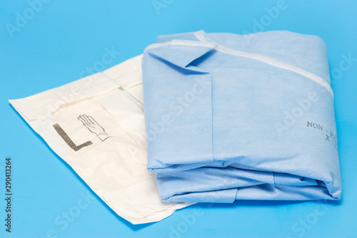 Photo Gown And Gloves On Blue