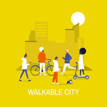 Walkable City. Diversity. Char...