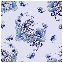 Illustration White Tiger Desig...
