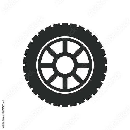 Fotografía  car wheels icon vector template