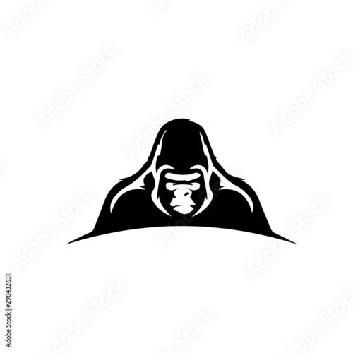 Photo gorilla logo vector modern design