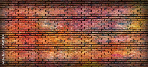 Canvas Prints Graffiti Graffiti brick wall,