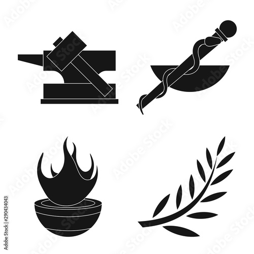 Платно Vector illustration of religion and myths symbol
