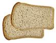 Leinwandbild Motiv Natural sliced rye bread
