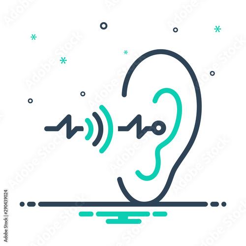 Leinwand Poster  Black mix icon for hearing