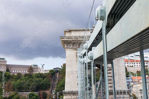 Fotografie, Obraz  Chain bridge Budapest