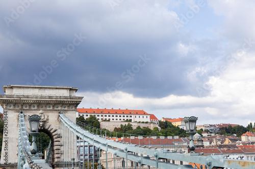 Obraz na plátně  Chain bridge Budapest
