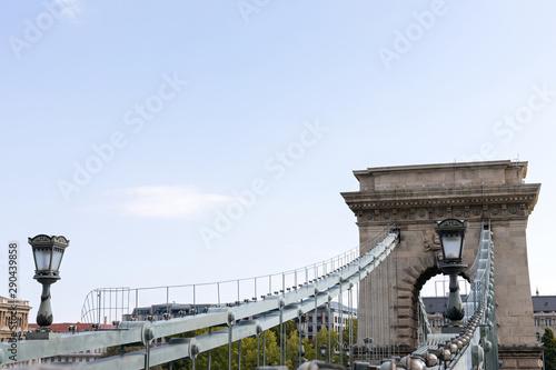 Chain bridge Budapest Fototapet