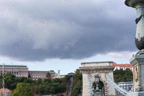 Fotografie, Tablou  Chain bridge Budapest