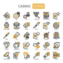 Casino , Thin Line And Pixel P...
